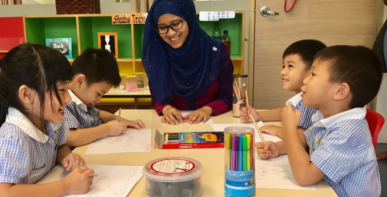 How can you express gratitude for the help of parents in kindergarten