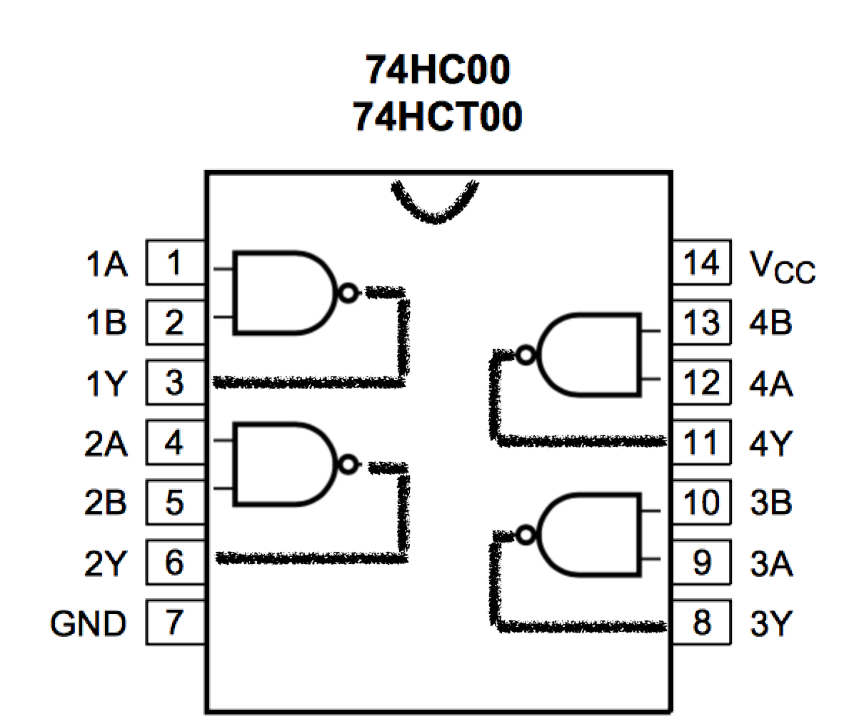Circuit Diagram Of A Nand Gate Building 4 Bit Shift Register From 7400 Gates For Gpio Output I Soldered Up Four D Latches
