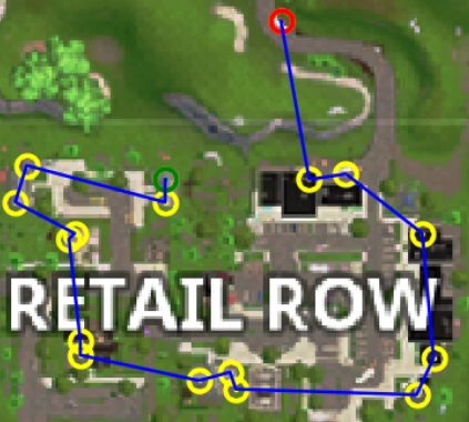 optimal looting path for retail row - fortnite best spots to land