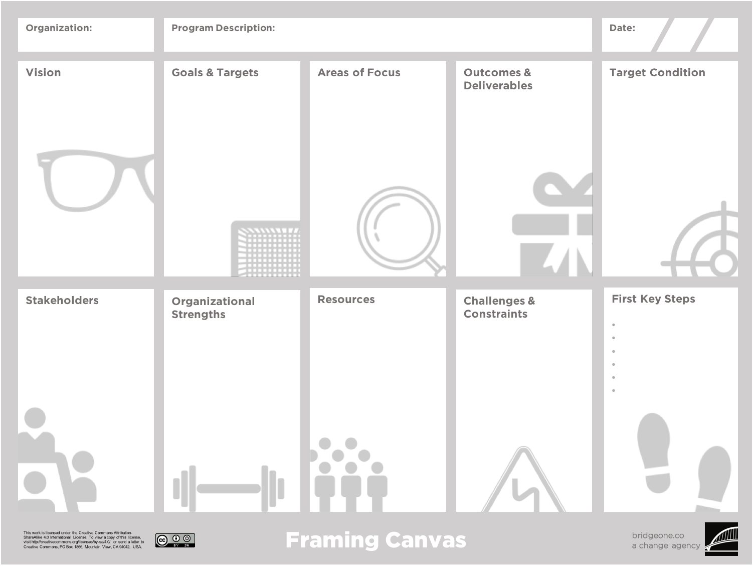 Getting Ready to Get Ready? Moving Out the Door with the Framing Canvas