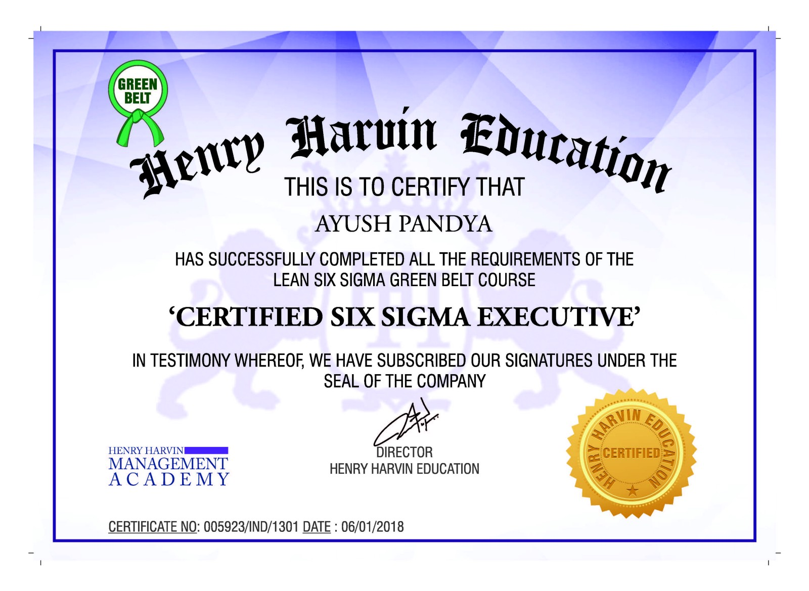 6 Sigma Certification Online Henry Harvin Medium