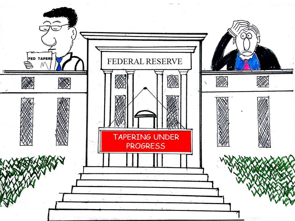 Cartoon: Fed Tapers – Baqar Zaidi – Medium