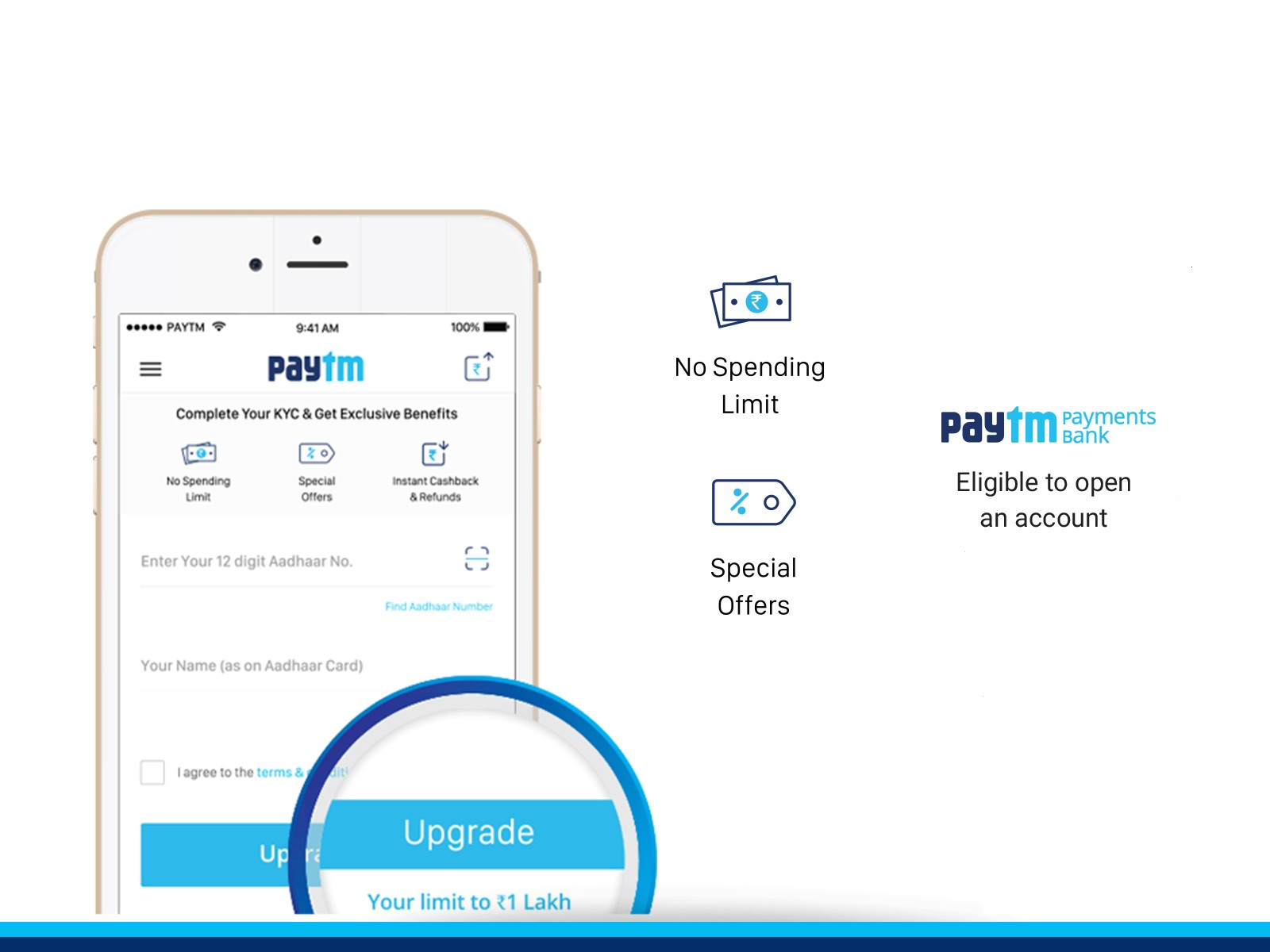Get Your Paytm Kyc Done Store Up To Rs 1 Lakh And Avail Other Benefits