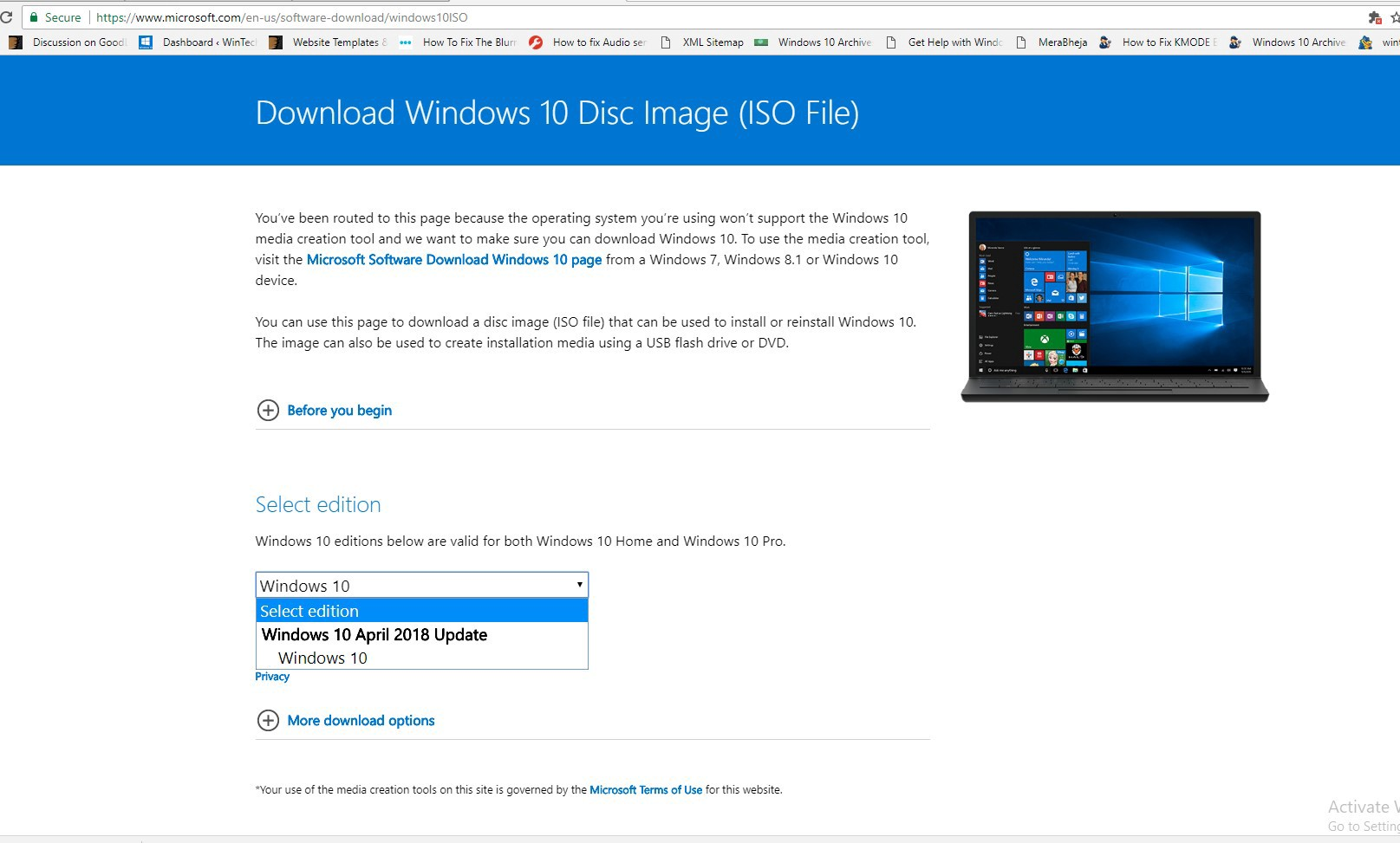 Download Windows 10 ISO free from Microsoft