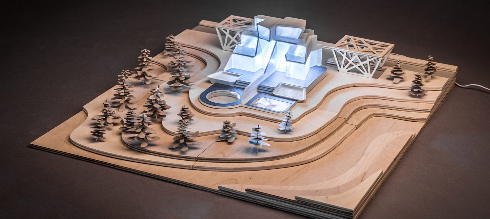 MultiMaterial Architectural Model Made with Multitool 3D Printer
