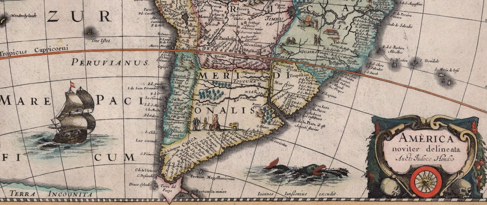 America noviter delineata auct judoco hondio save texas history jan jansson america noviter delineata auct judoco hondio amsterdam 1623 map 93814 holcomb digital map collection archives and records program gumiabroncs Gallery
