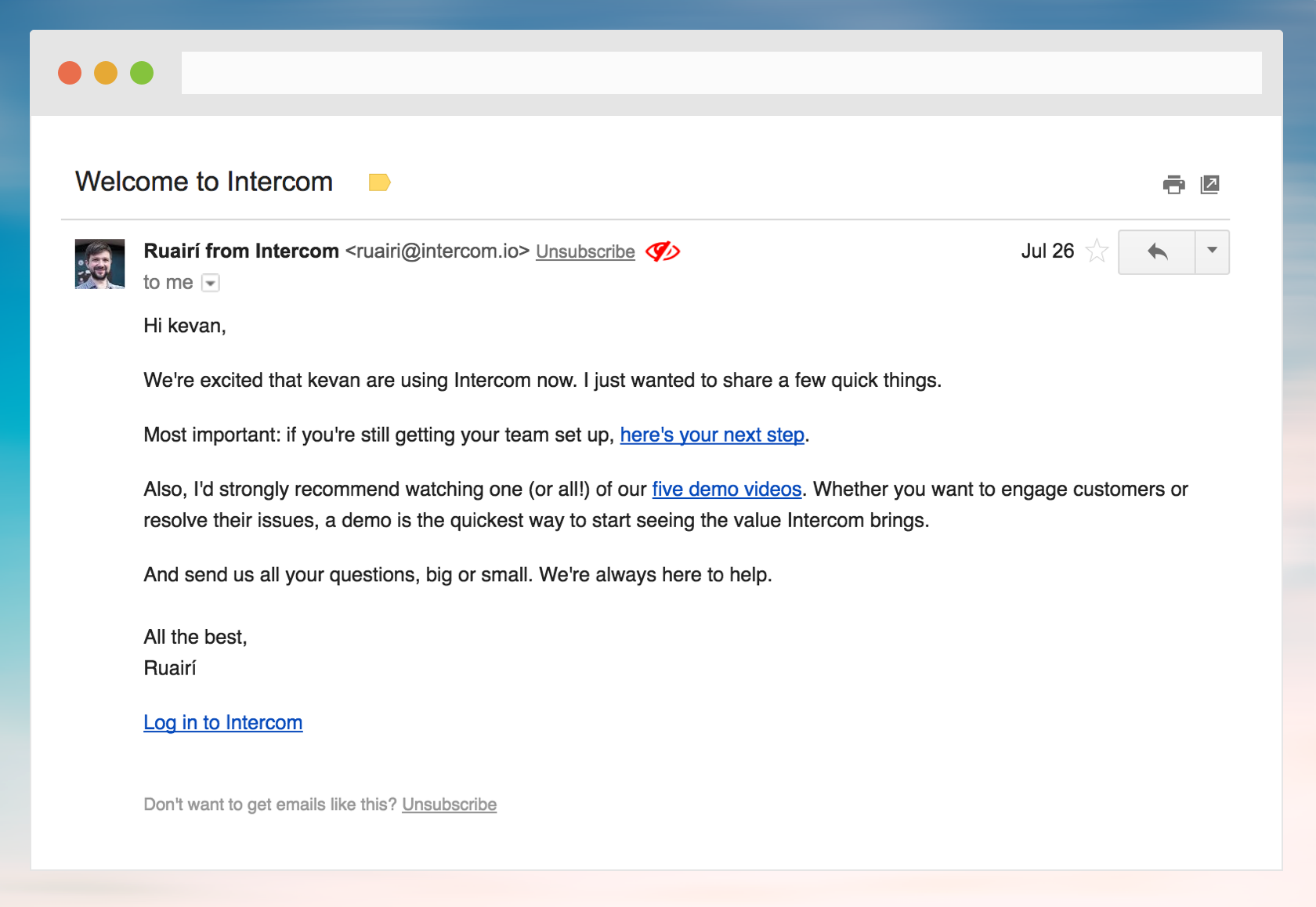 how intercom sends onboarding email aloha welcome emails medium