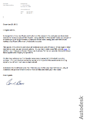 CEO Award Letter
