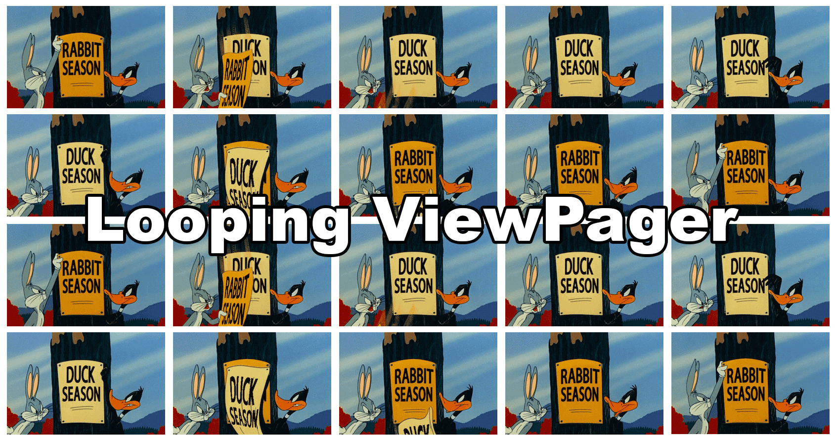 Looping/infinite ViewPager with page indicator in Android