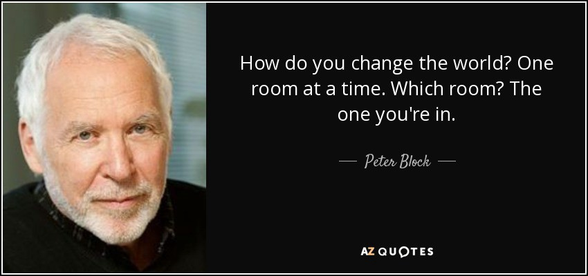 Conversations for transformative, rewarding, and effective teamwork: A tribute to Peter Block