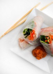 Steamed Chicken Salad Rolls - Stephanie Arsenault - Global Dish