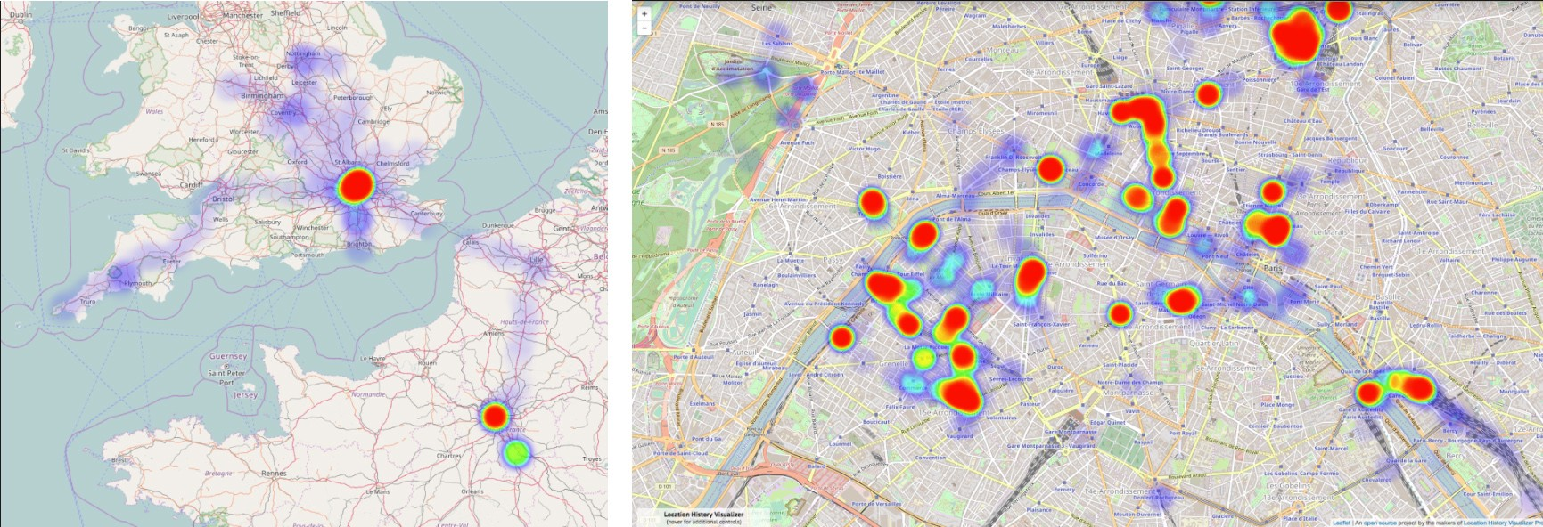 . create a heat map from your google location history in  easy steps