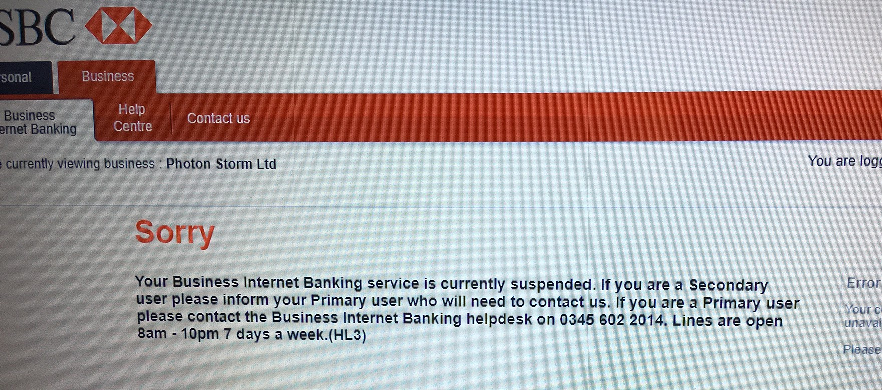 Hsbc Is Killing My Business Piece By Piece How To Plan For Your