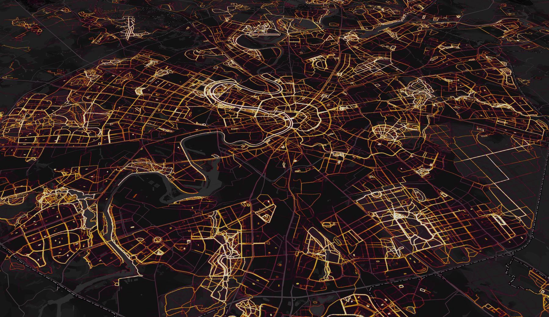 the global heatmap in moscow russia demonstrating mapbox gl s rotate pitch feature