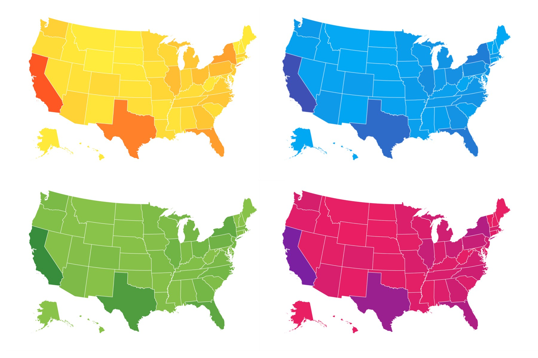 New Globe and Albers USA support in ReactSimpleMaps v011