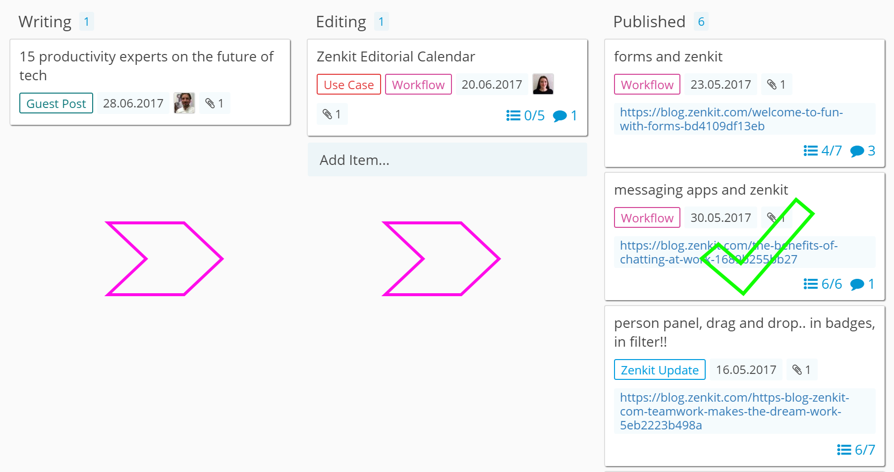planning for success how to build your editorial calendar with zenkit