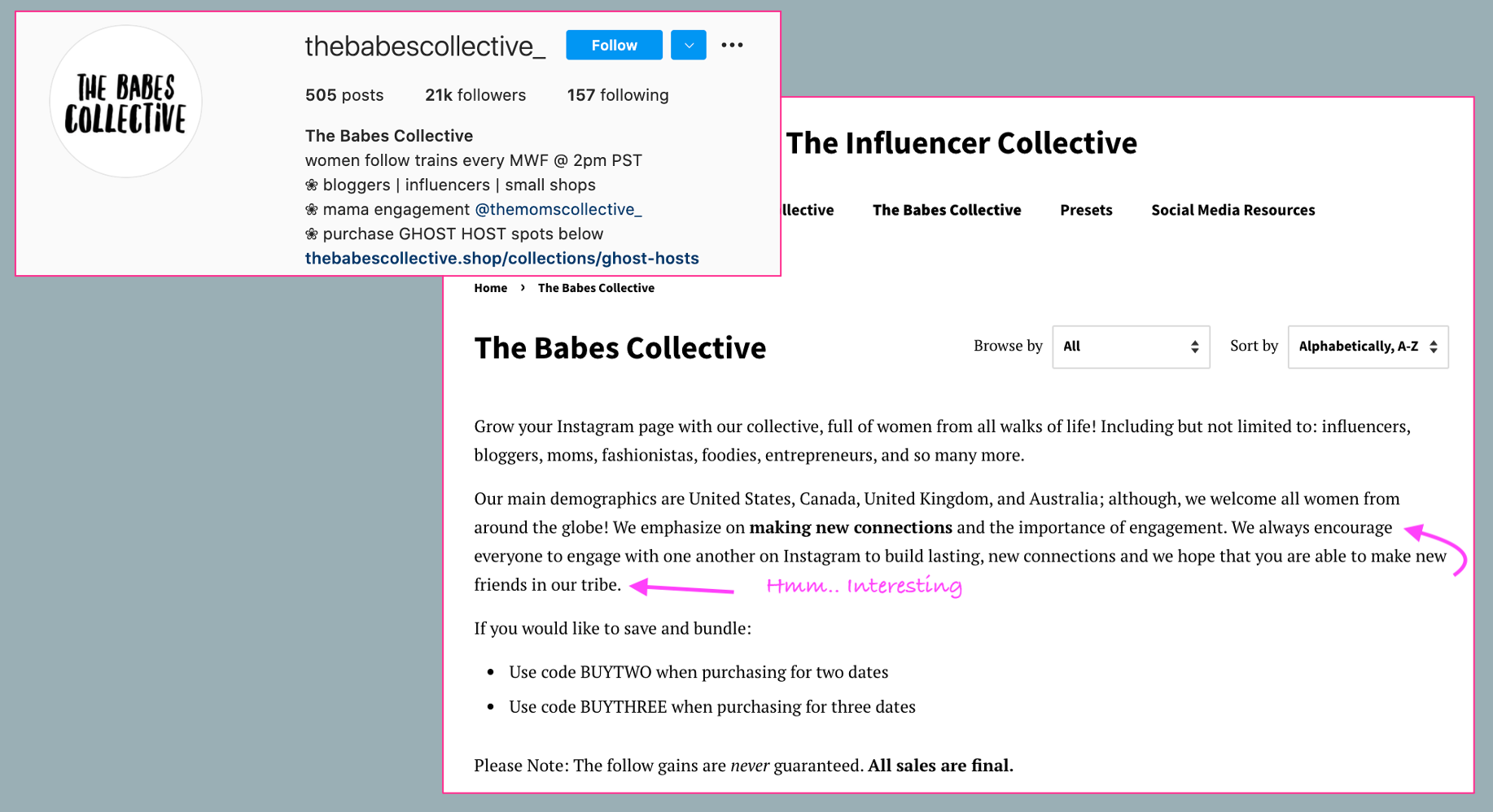 """The """"babes collective"""" and the fake encouragement from Instagram Influencers"""