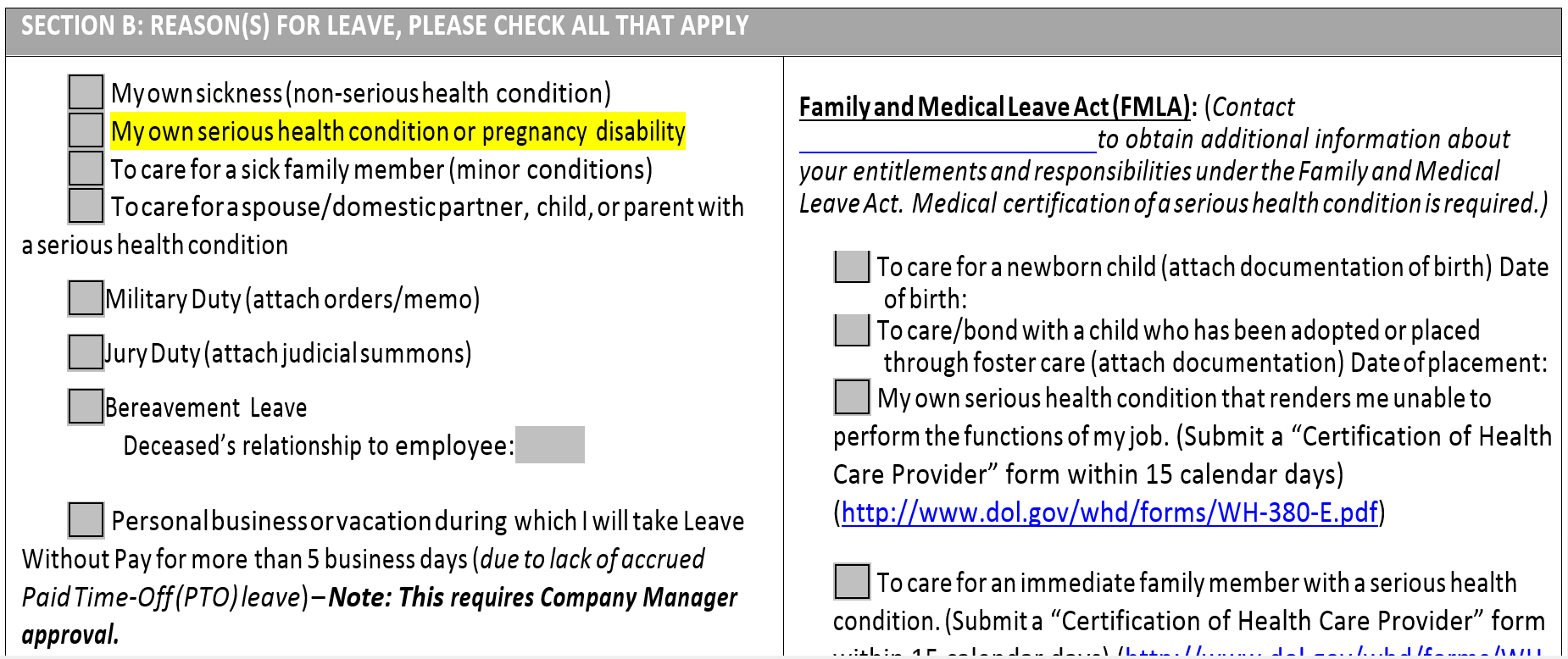 Fmla return to work certification form choice image form example fmla certification of health care provider form images form no fmla leave without pay tyjen conley xflitez Gallery