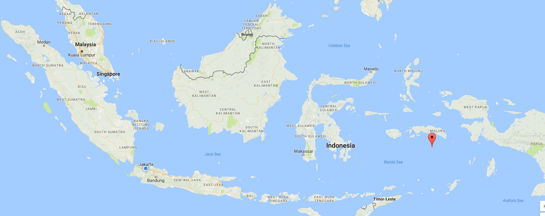 A tale of run island arif nugraha ruswidyo medium indonesia as seen on google maps blue dot refers to the exact location where i wrote this article red mark points out the location of run island gumiabroncs Gallery