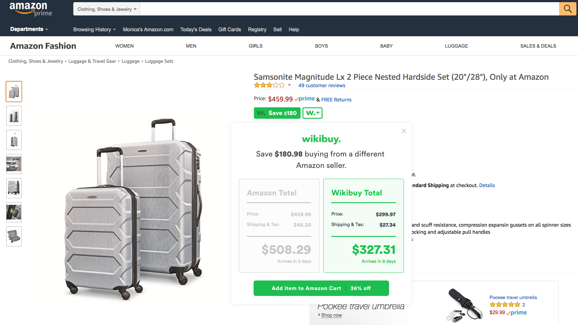 How i afford to travel on a budget wikibuy not only does wikibuy find the best coupon codes it also compares prices on amazon while you shop it checks hundreds of other sellers to find the lowest fandeluxe Gallery
