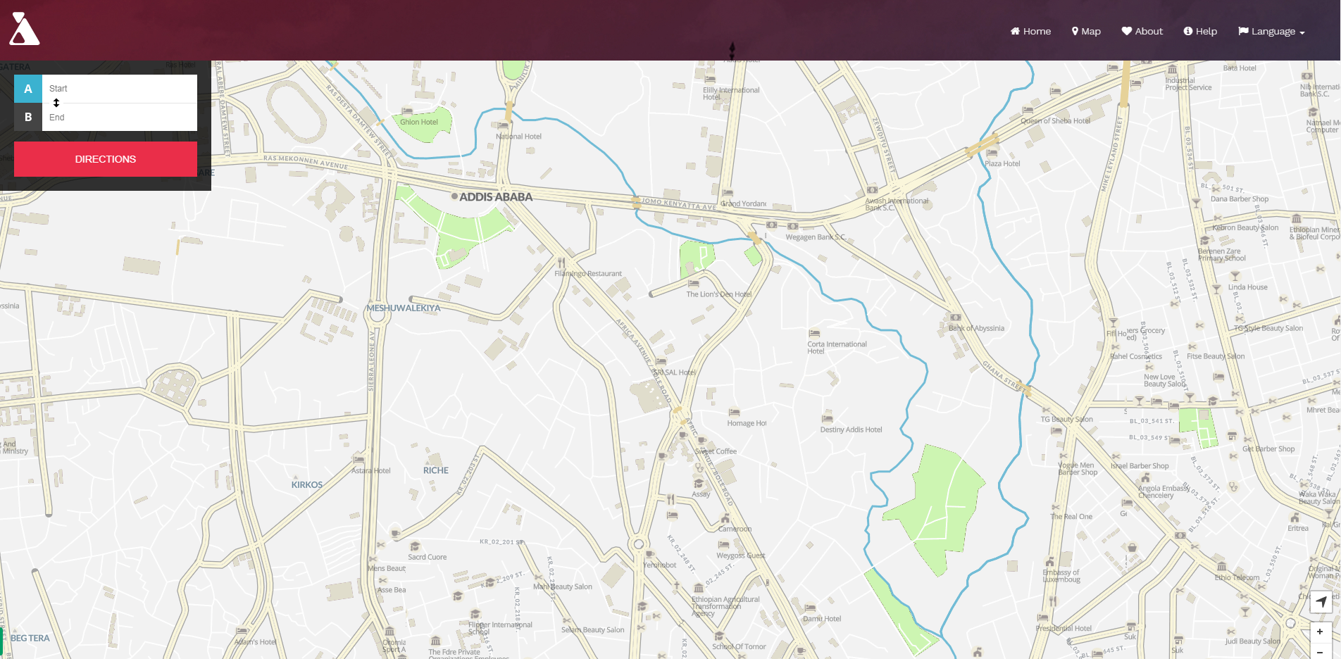 How I created digital map for Addis Ababa when Google Map was not