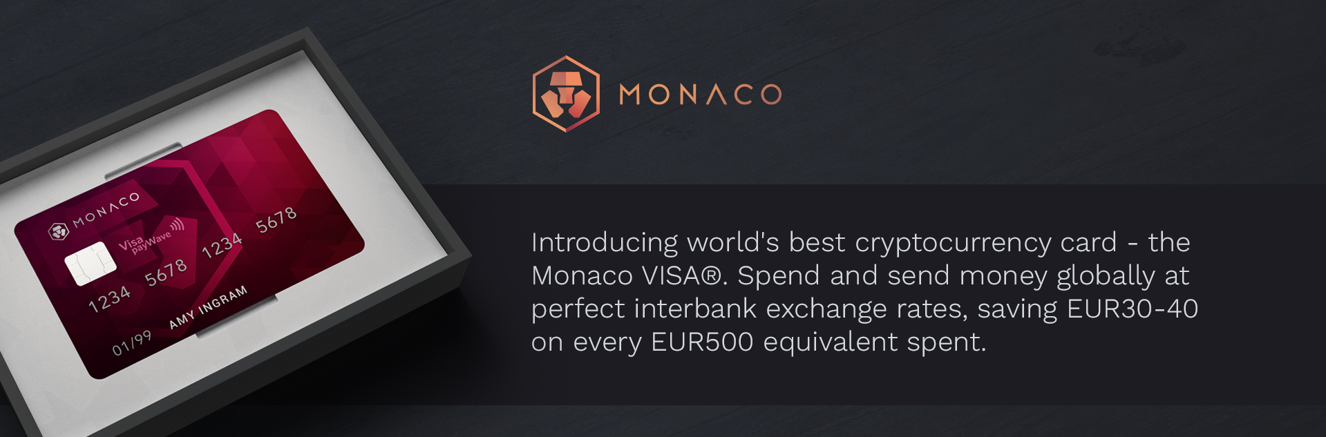 Monaco card — the step forward to the future of money transfers