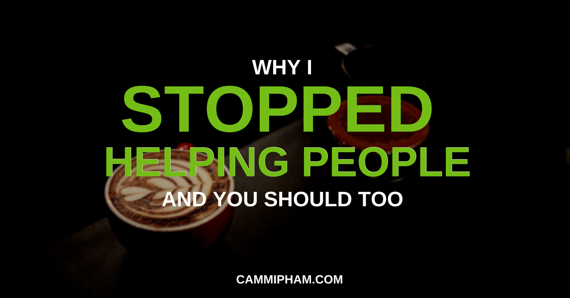 Why i stopped helping people and you should too the unlearner medium solutioingenieria Image collections