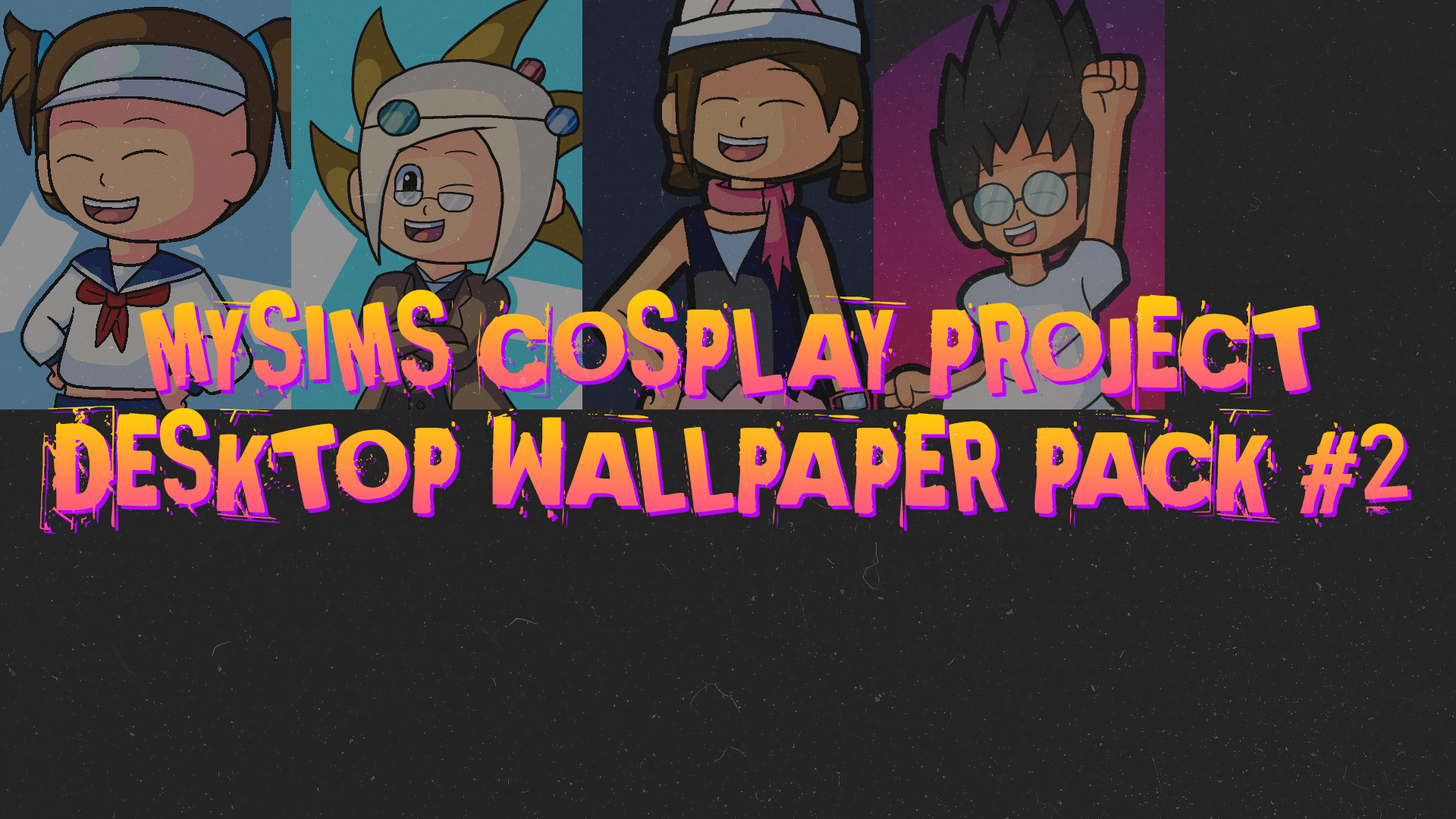 Mysims Cosplay Project Desktop Wallpaper Pack  Samurai Fox Studio Medium