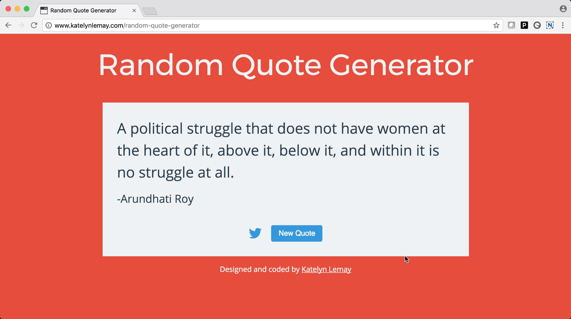 Random Quote Generator How I Planned And Built My First Javascript Project