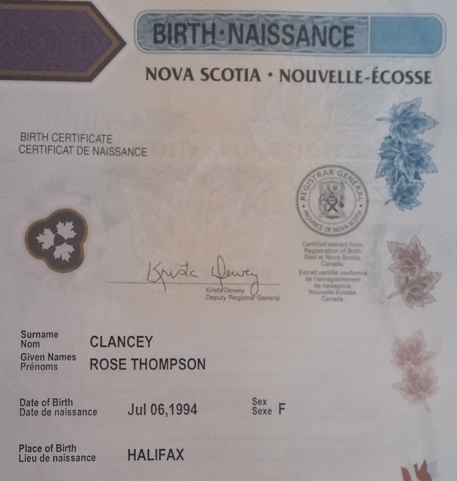 Situating My Birth Certificate In Its Historical Context