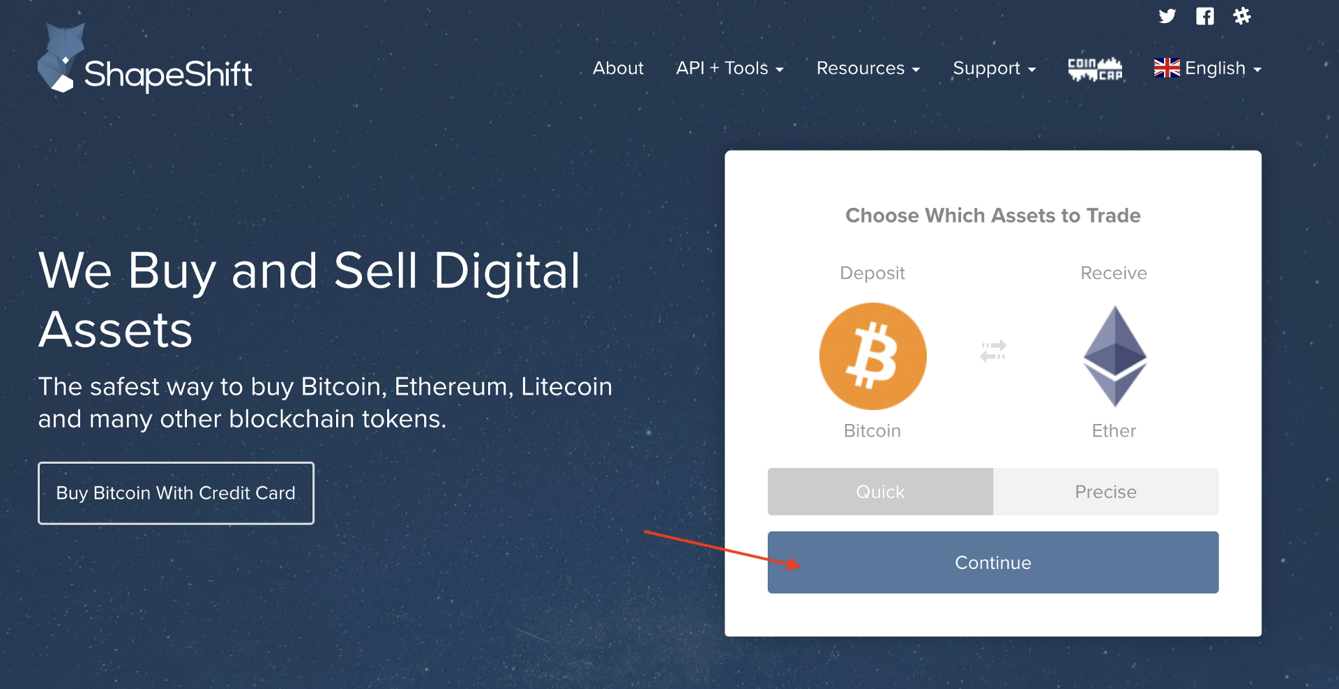 How to exchange bitcoin and tokens into eth ether with shapeshift ccuart Image collections