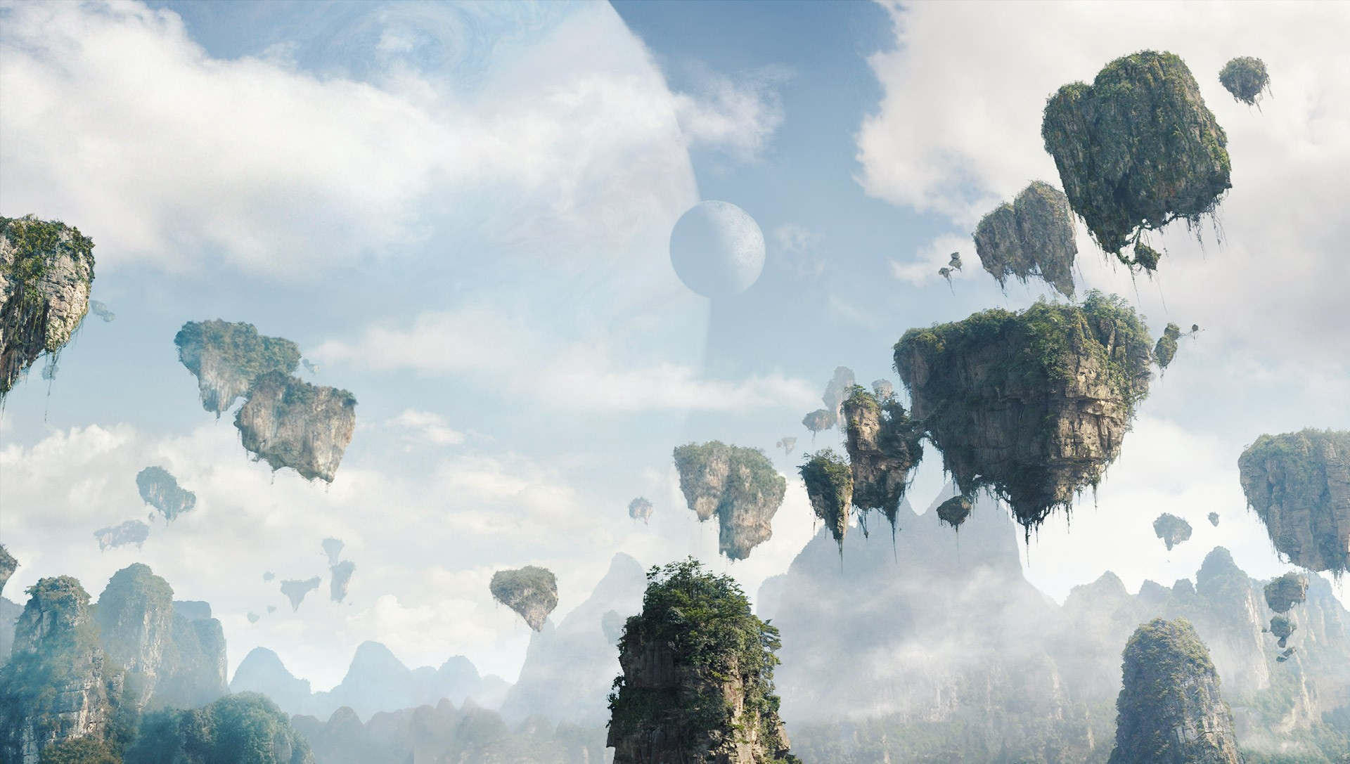 Are Pandora's Floating Mountains Possible-