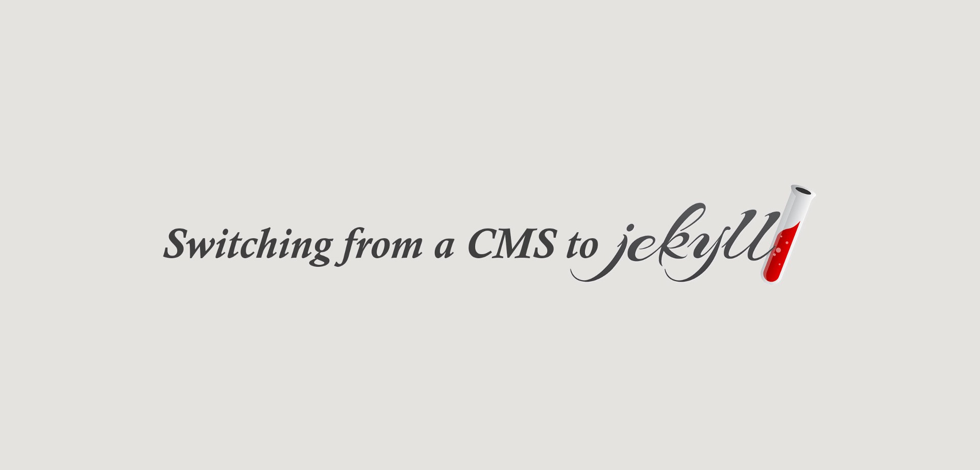 Switching from a CMS to Jekyll – Ajay Karwal – Medium