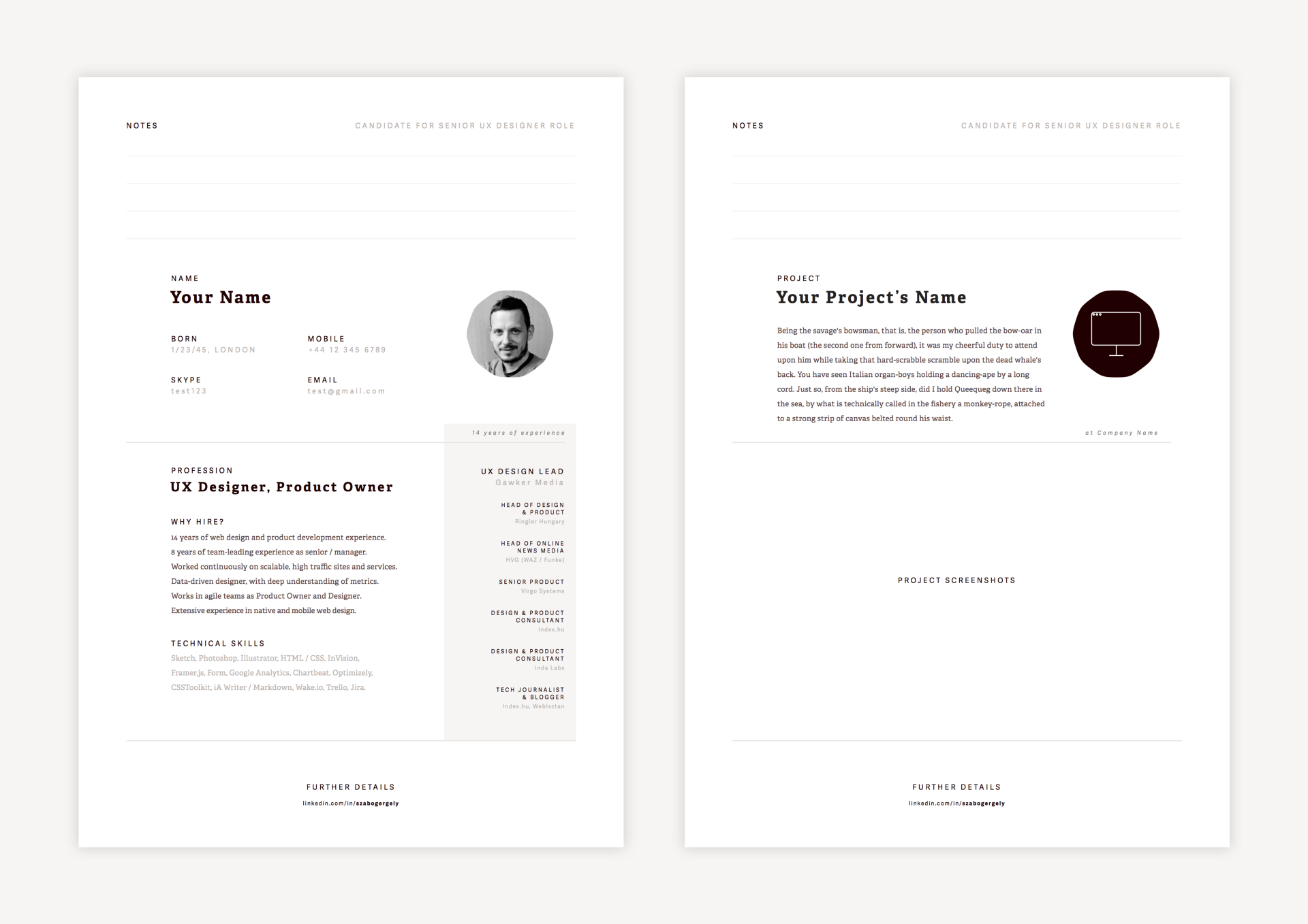 Creating Resume In Sketch U2013 Design + Sketch U2013 Medium  3 Page Resume