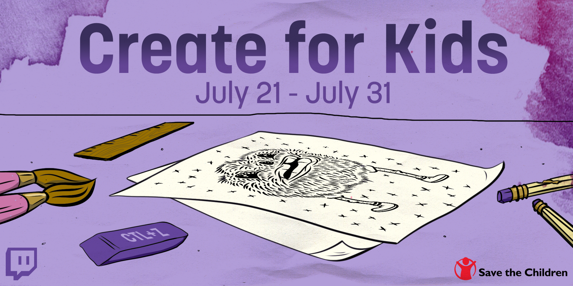 help kids and get cool stuff with the create for kids charity event