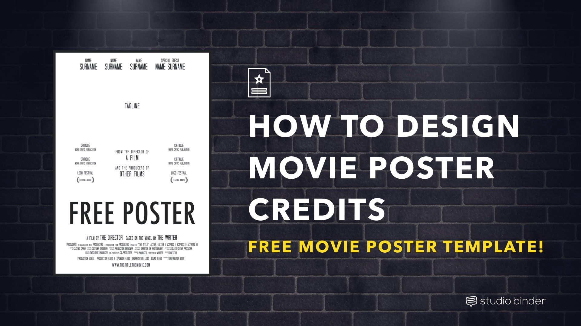 How to Make a Movie Poster [Free Movie Poster Credits Template]