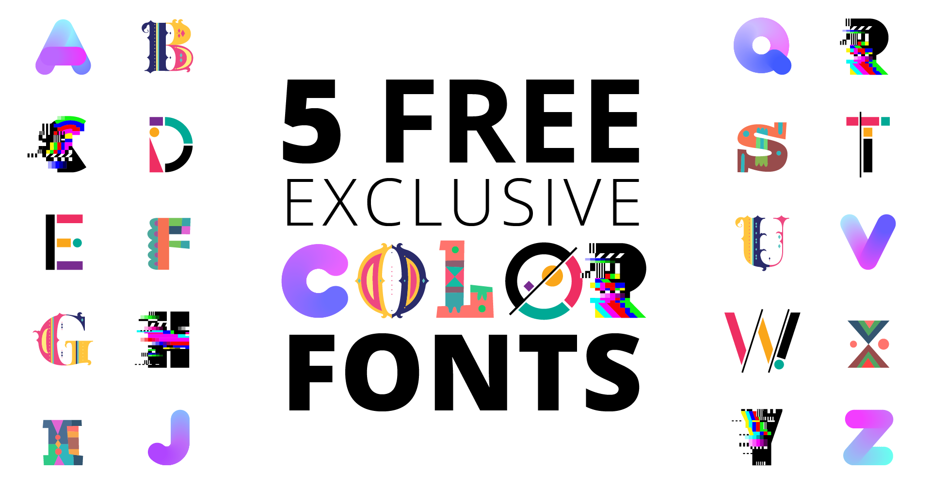 5 FREE color fonts by 5 FREE spirited minds – What\'s new at Fontself?