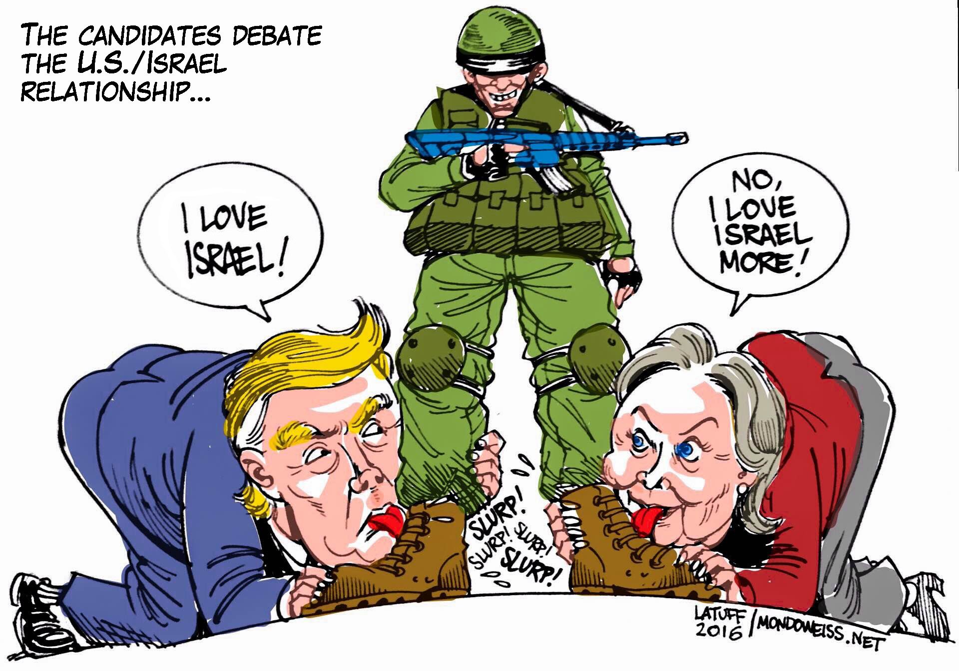 Image result for TRUMP ZIONIST CARTOON