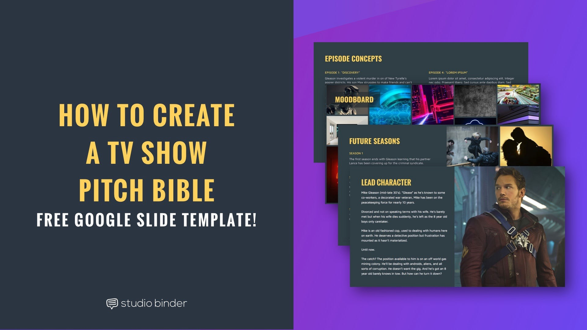 how to create a tv show pitch bible that sells with free show bible