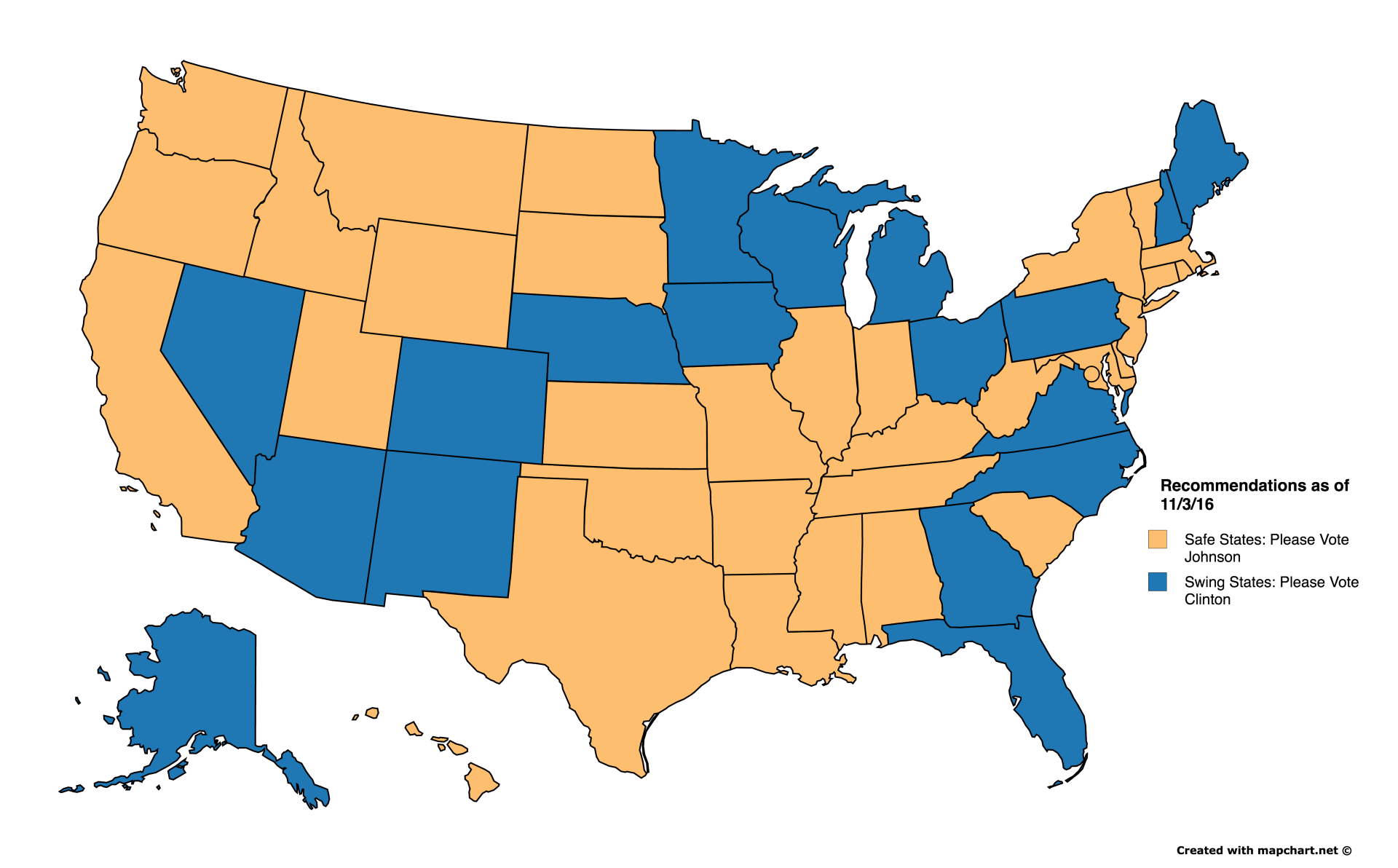Why You Can And Should Vote Rd Party In Some States - Map of swing states in the us
