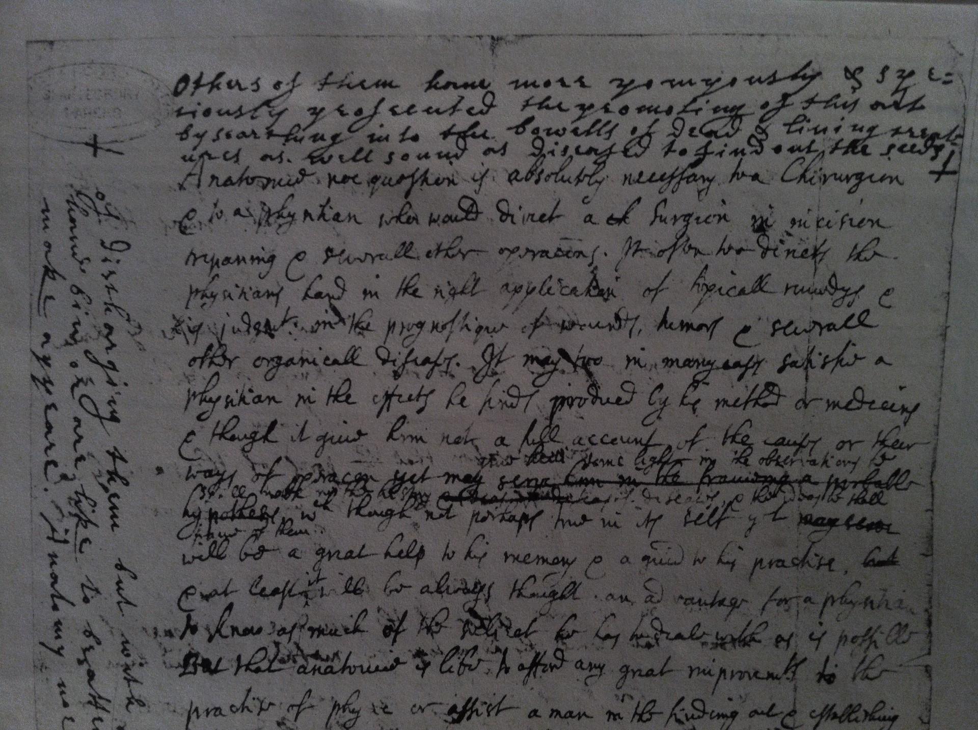 John Lockes Anatomia And De Arte Medica New Transcriptions