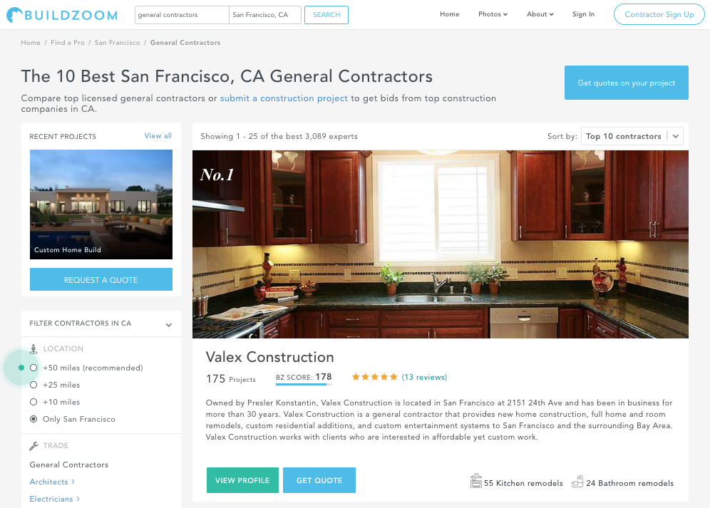 How I Redesigned Contractor Search at BuildZoom
