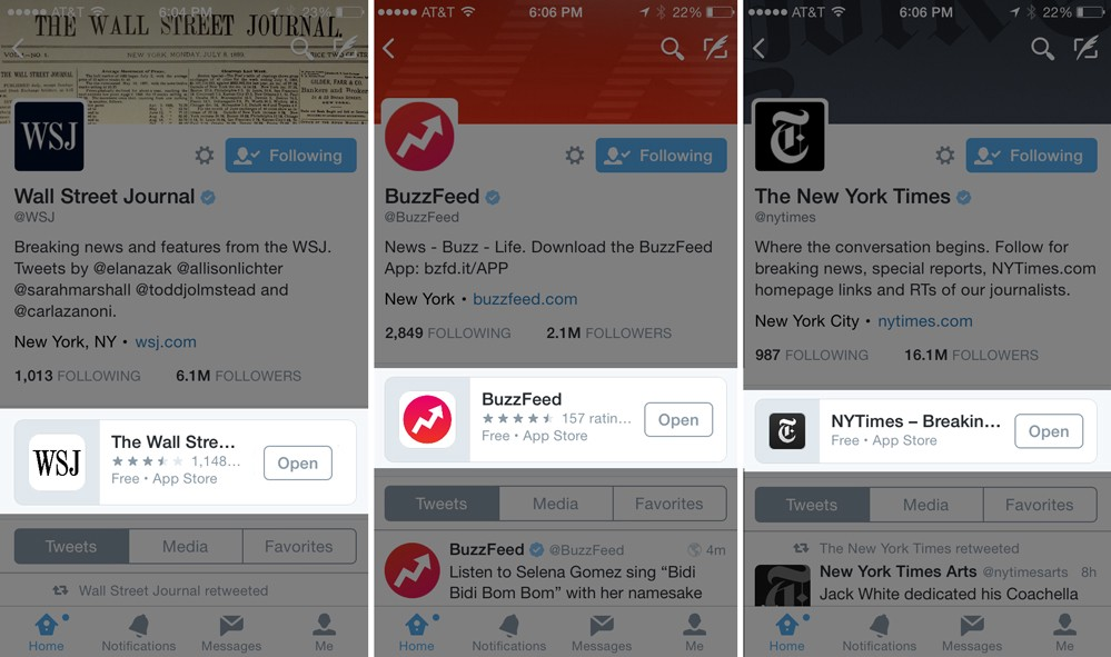 How to get Twitter's fancy new app cards