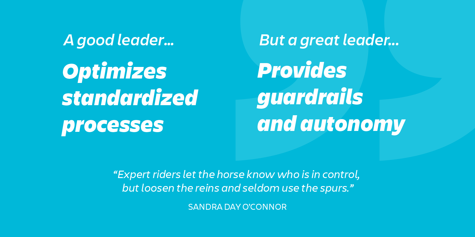 infographic: great leaders provide guardrails and autonomy