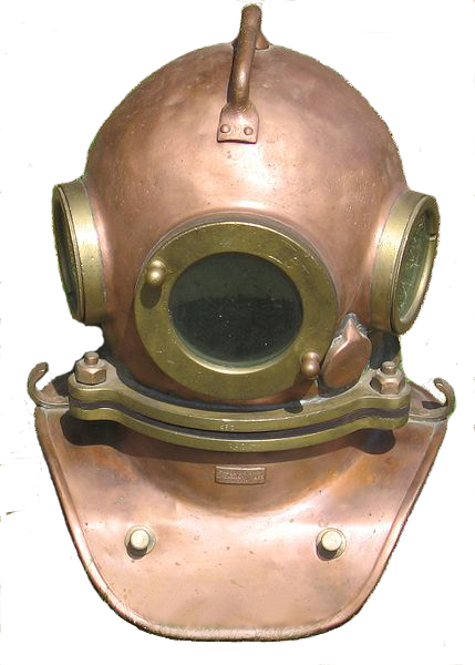 A diving helmet.