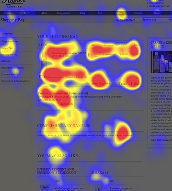 F-pattern that describes how users perceive content