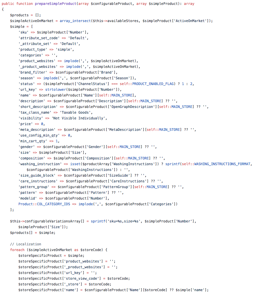 Importer module code snippet