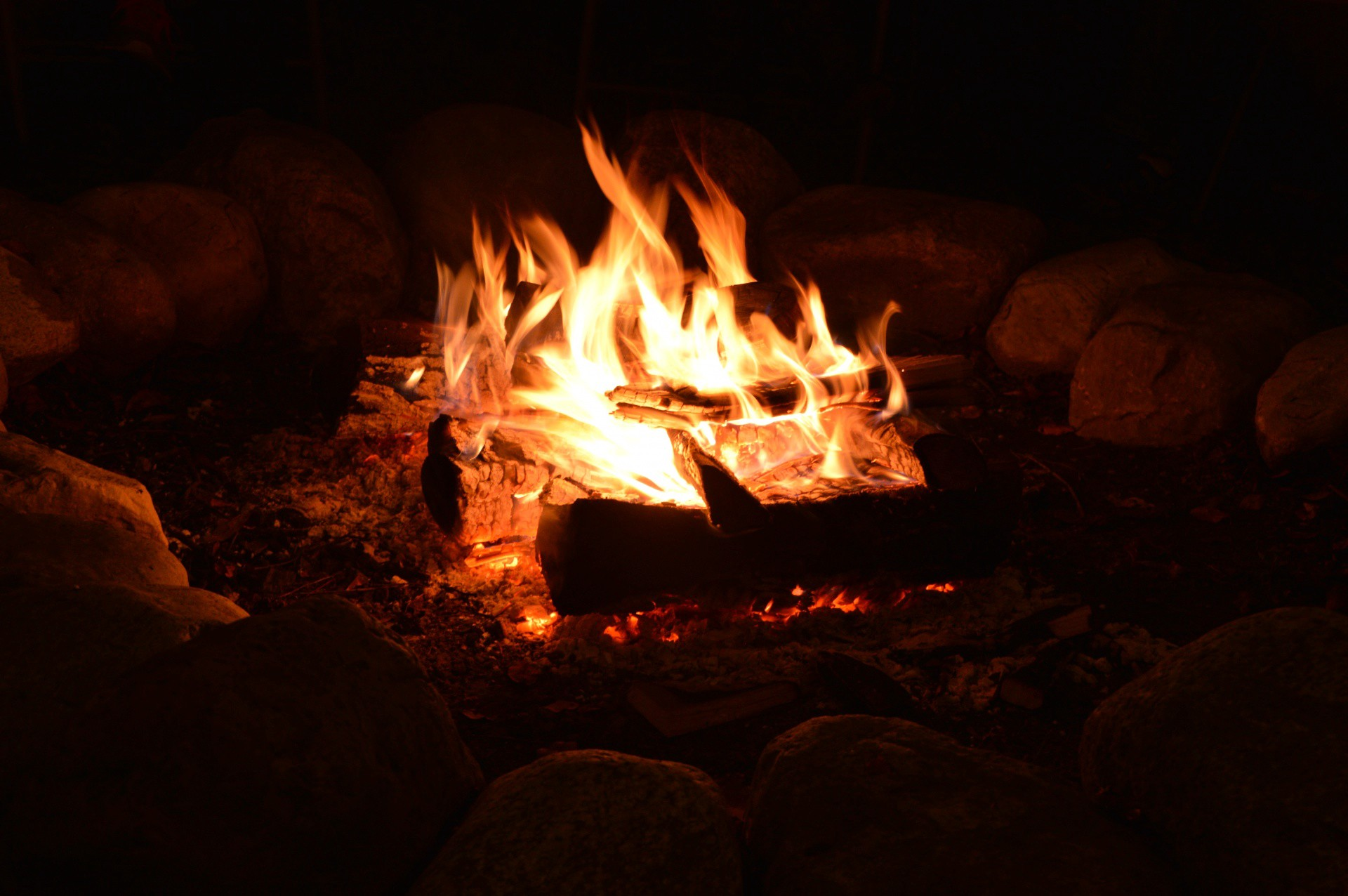 Autumn Night Fire Pit : The fire pit on a autumn night poets unlimited medium