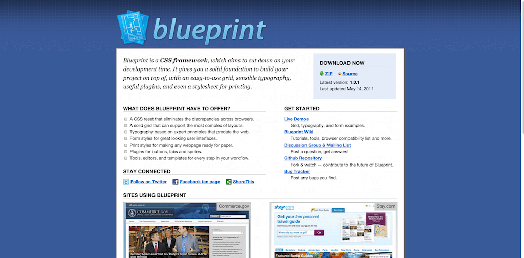 Top 20 best free css3 frameworks for web development dive deep within blueprint a css3 framework specifically designed to help you eliminate the extensive hours of development time necessary to build malvernweather Images