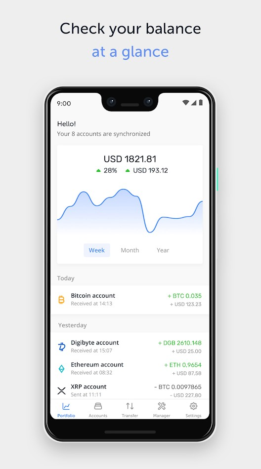 The Ledger Live mobile app